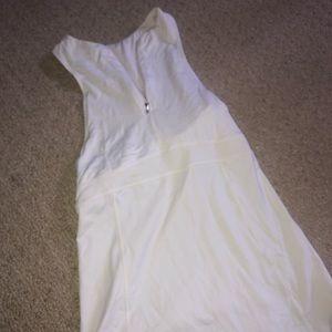 Lululemon white sleeveless halter zip up